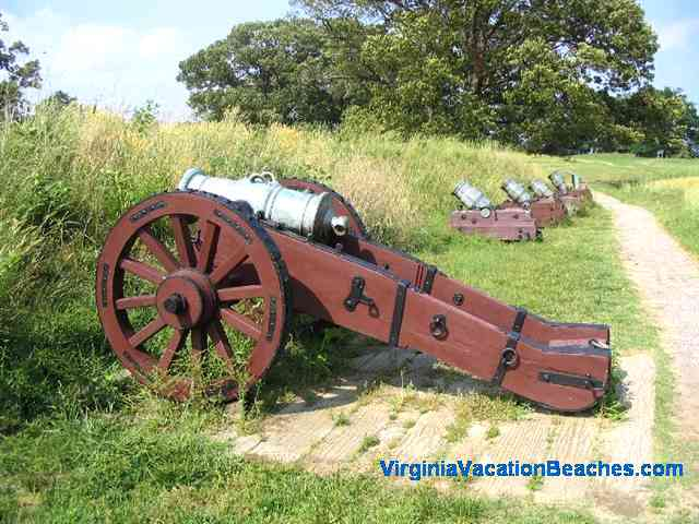 Yorktown Battlefield Cannons - near Virginia Beaches Attraction